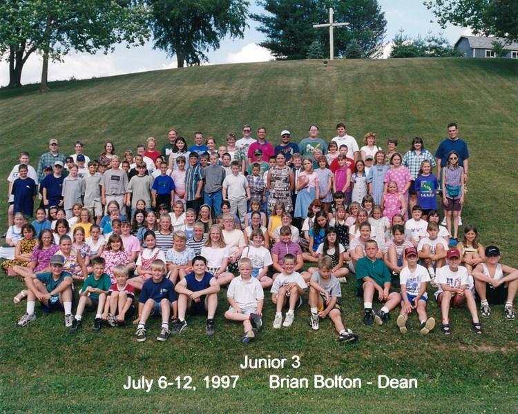 Junior 3, July 6-12, 1997 Brian Bolton, Dean