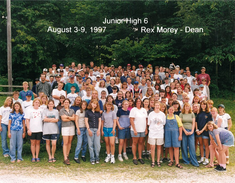Junior High 6, August 3-9, 1997 Rex Morey, Dean