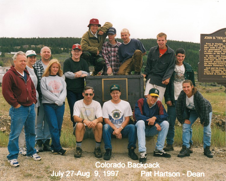 Colorado Backpack, July 27-Aug 9, 1997 Pat Hartson, Dean