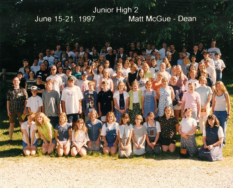 Junior High 2, June 15-21, 1997 Matt McGue, Dean