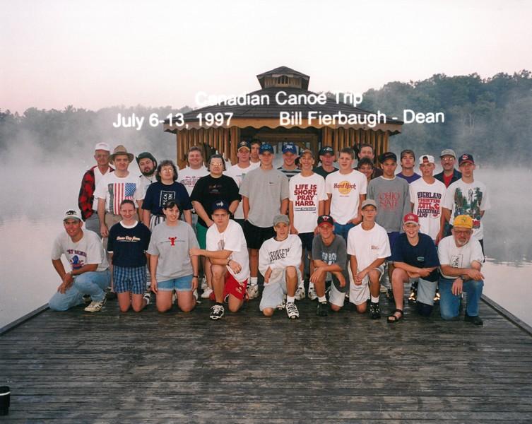Canadian Canoe Trip, July 6-13, 1997 Bill Fierbaugh, Dean