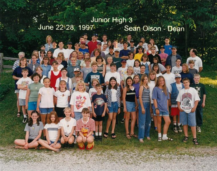 Junior High 3, June 22-28, 1997 Sean Olson, Dean