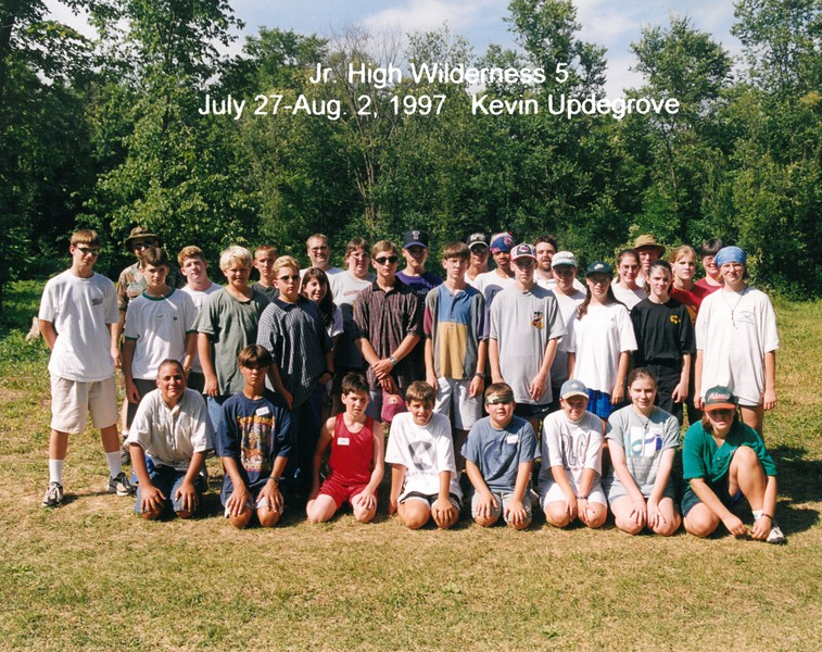 Junior High Wilderness 5, July 27, Aug 2, 1997 Kevin Updegrove, Dean
