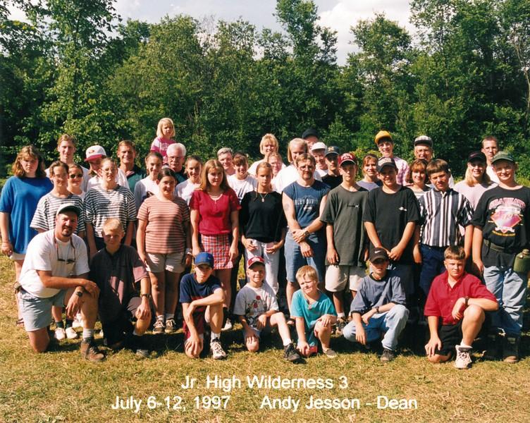 Junior High Wilderness 3, July 6-12, 1997 Andy Jesson, Dean