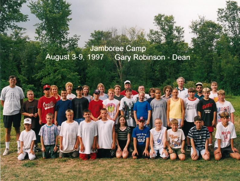 Jamboree Camp, August 3-9, 1997 Gary Robinson, Dean
