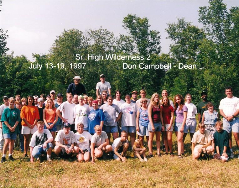 Senior High Wilderness 2, July 13-19, 1997 Don Campbell, Dean