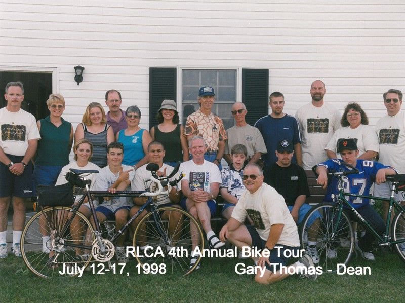 RLCA 4th Annual Bike Tour, July 12-17, 1998 Gary Thomas, Dean