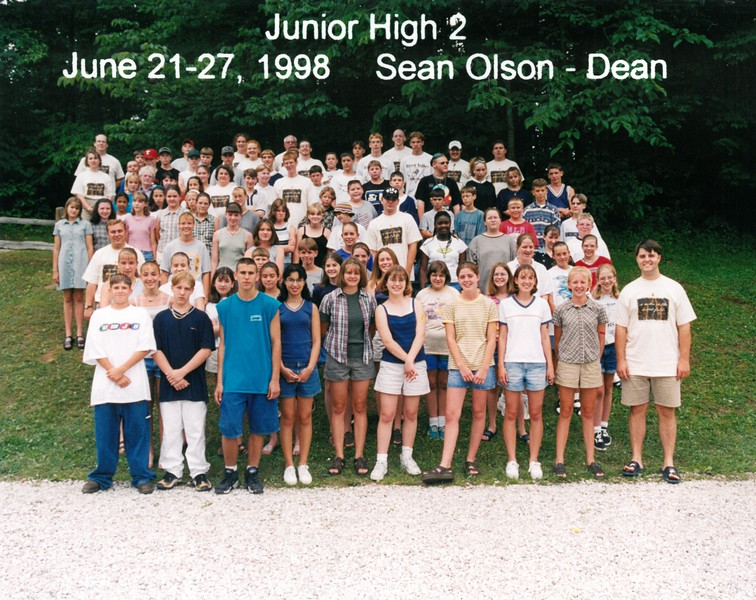 Junior High 2, June 21-27, 1998 Sean Olson, Dean