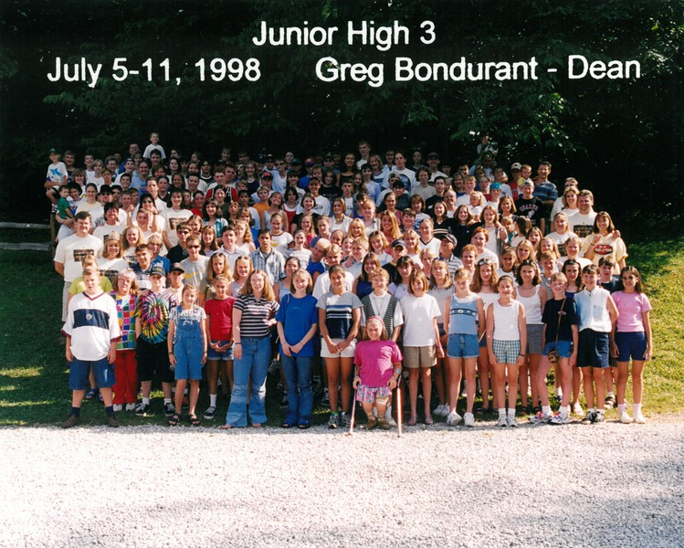 Junior High 3, July 5-11, 1998 Greg Bondurant, Dean