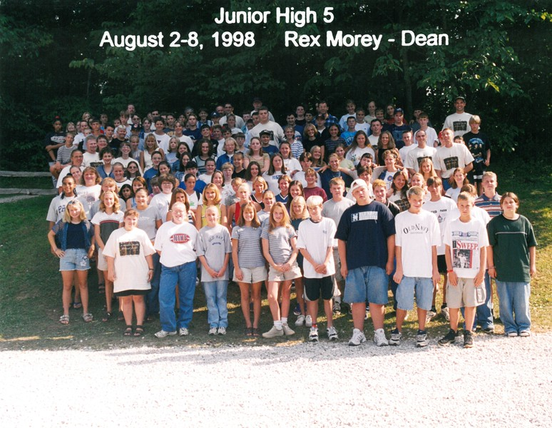 Junior High 5, August 2-8, 1998 Rex Morey, Dean