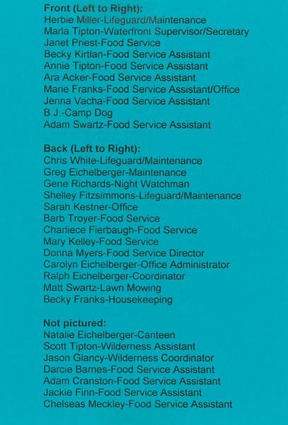 1998 Summer Staff 2