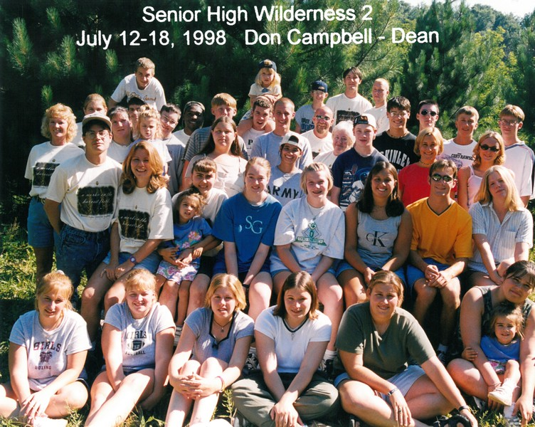 Senior High Wilderness 2, July 12-18, 1998 Don Campbell, Dean
