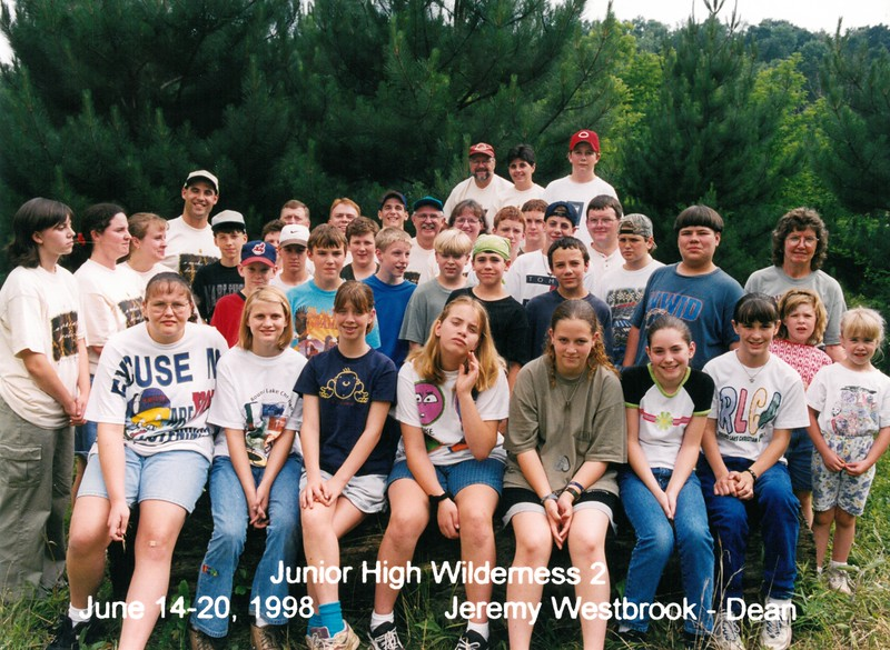 Junior High Wilderness 2, June 14-20, 1998 Jeremy Westbrook, Dean