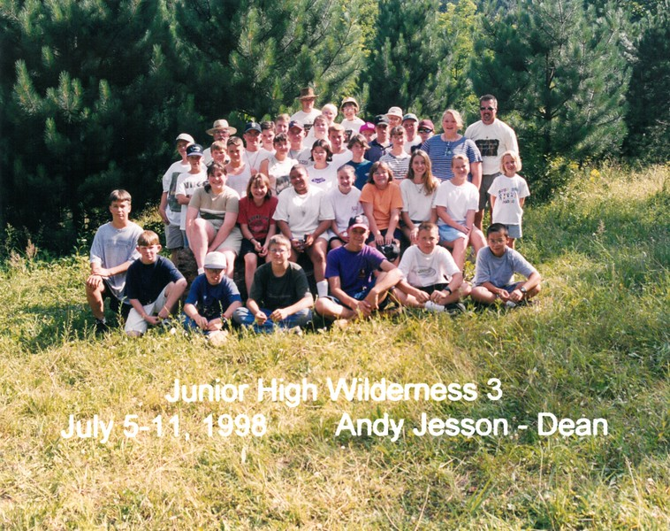 Junior High Wilderness 3, July 5-11, 1998 Andy Jesson, Dean