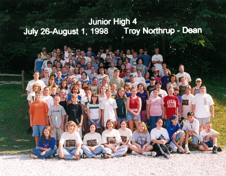 Junior High 4, July 26-August 1, 1998 Troy Northup, Dean