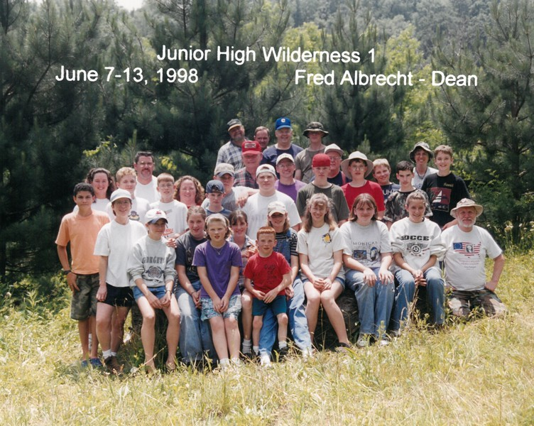 Junior High Wilderness 1, June 7-13, 1998 Fred Albrecht, Dean