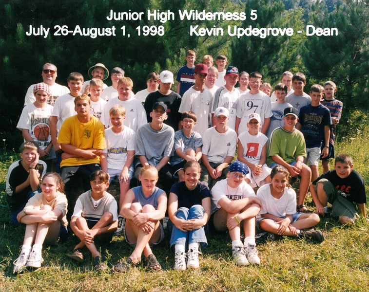 Junior High Wilderness 5, July 26-August 1, 1998 Kevin Updegrove, Dean