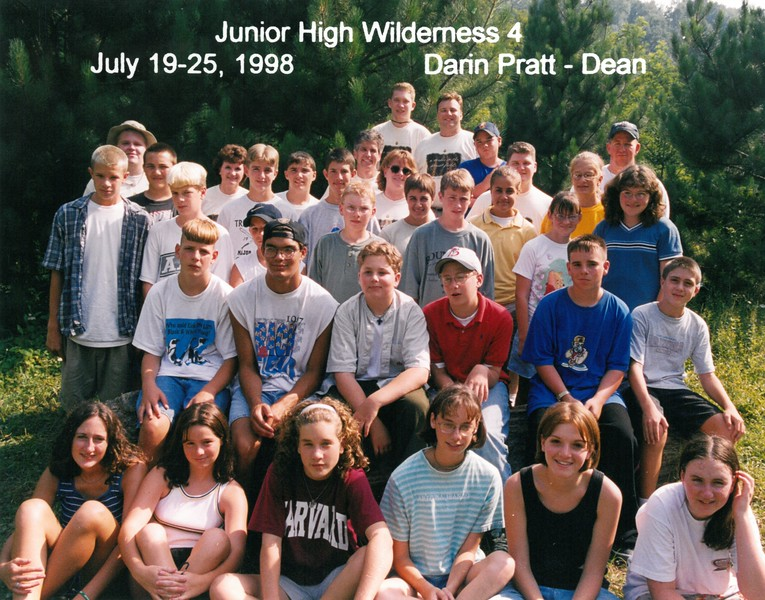 Junior High Wilderness 4, July 19-25, 1998 Darin Pratt, Dean