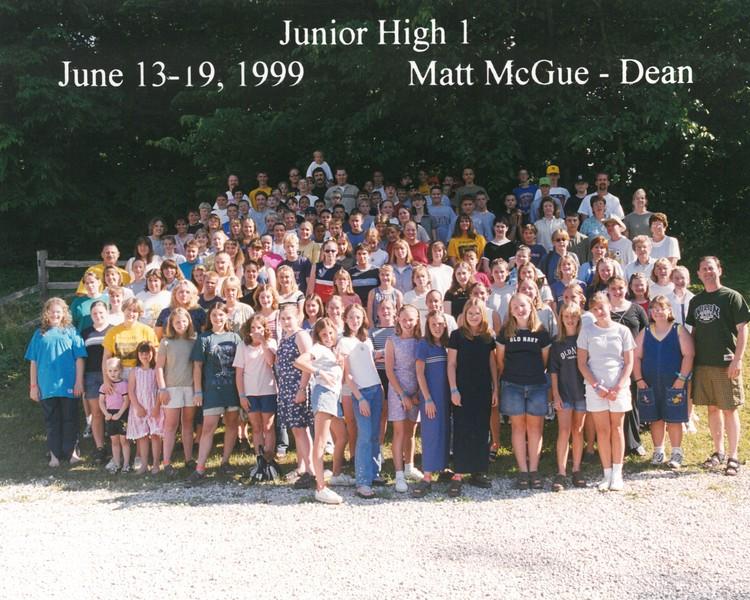 Junior High 1, June 13-19, 1999 Matt McGue, Dean