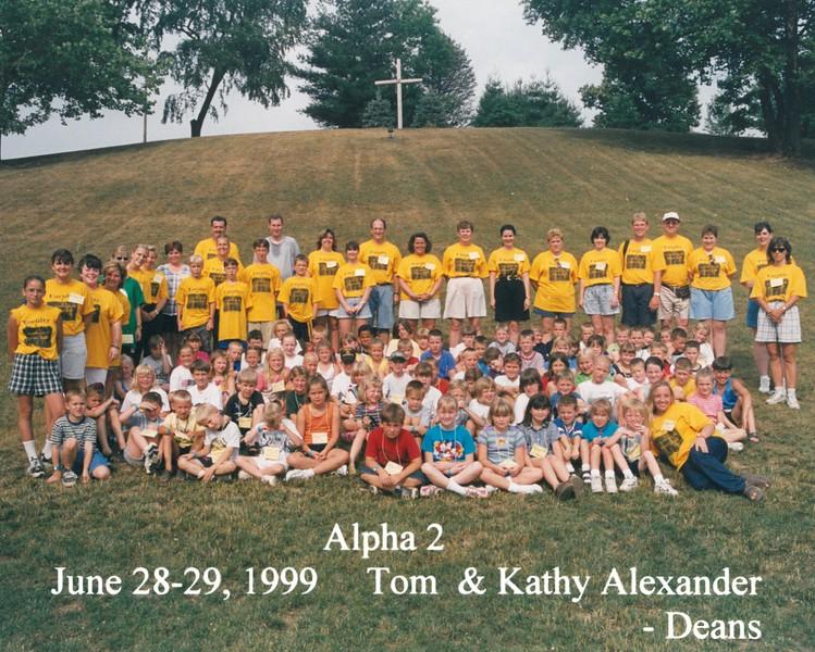 Alpha 2, June 28-29, 1999 Tom & Kathy Alexander, Deans