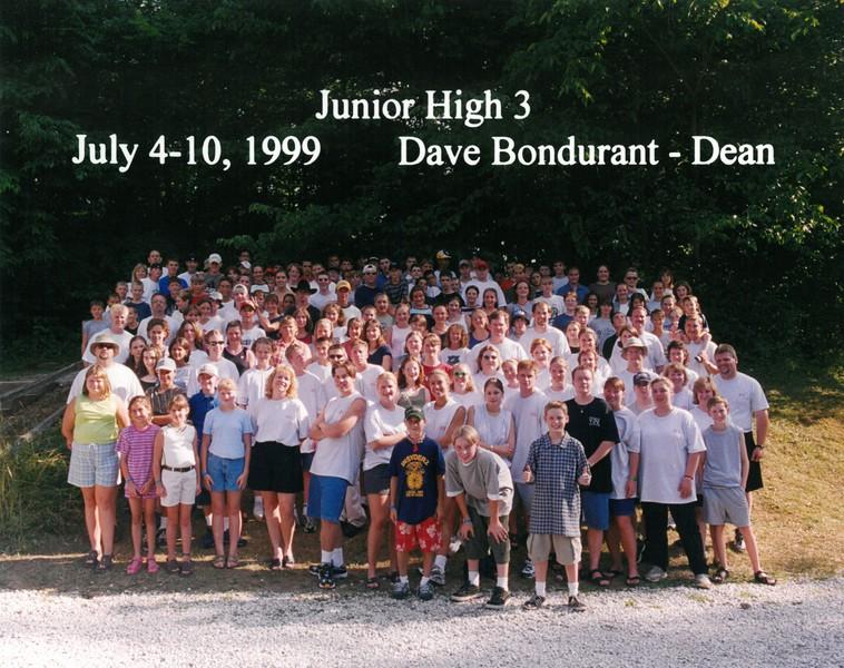 Junior High 3, July 4-10, 1999 Dave Bondurant, Dean