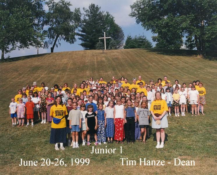 Junior 1, June 20-26, 1999 Tim Hanze, Dean