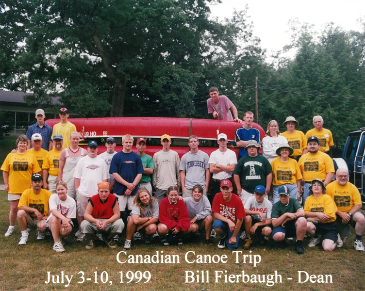 Canadian Canoe Trip, July 3-10, 1999 Bill Fierbaugh, Dean