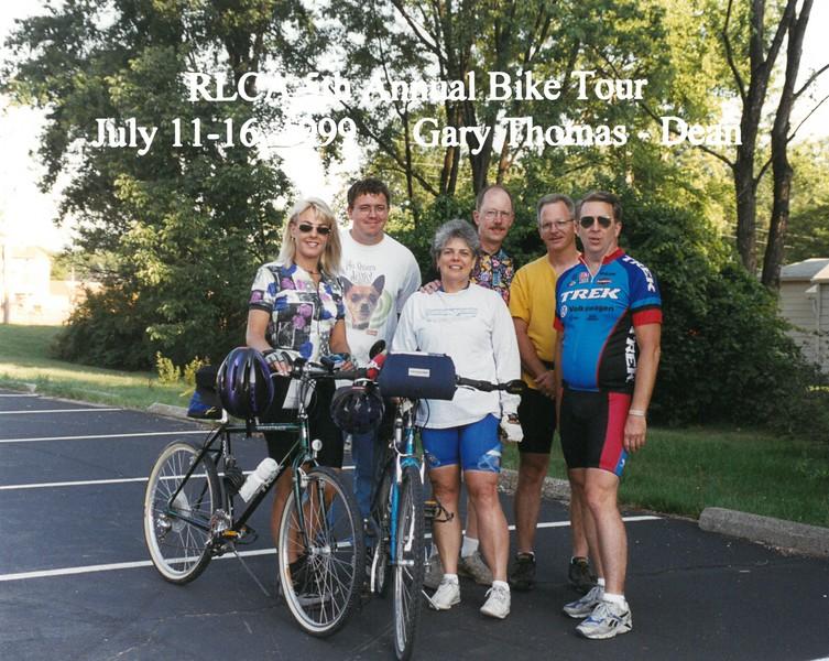 RLCA 5th Annual Bike Tour, July 11-16, 1999 Gary Thomas, Dean