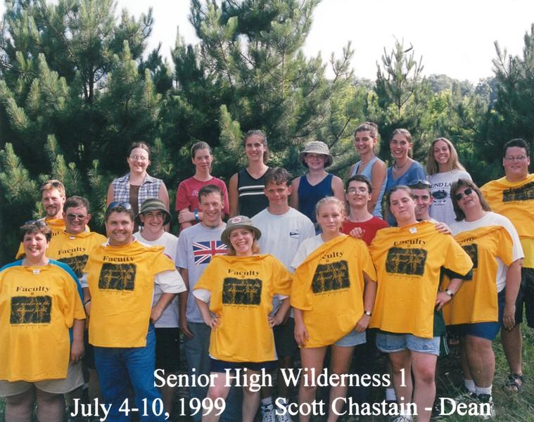 Senior High Wilderness 1, July 4-10, 1999 Scott Chastain, Dean