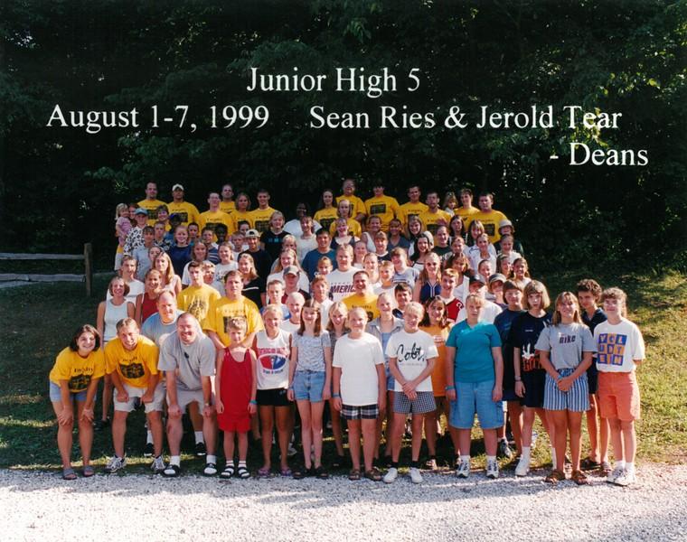 Junior High 5, August 1-7, 1999 Sean Ries & Jerold Tear, Deans