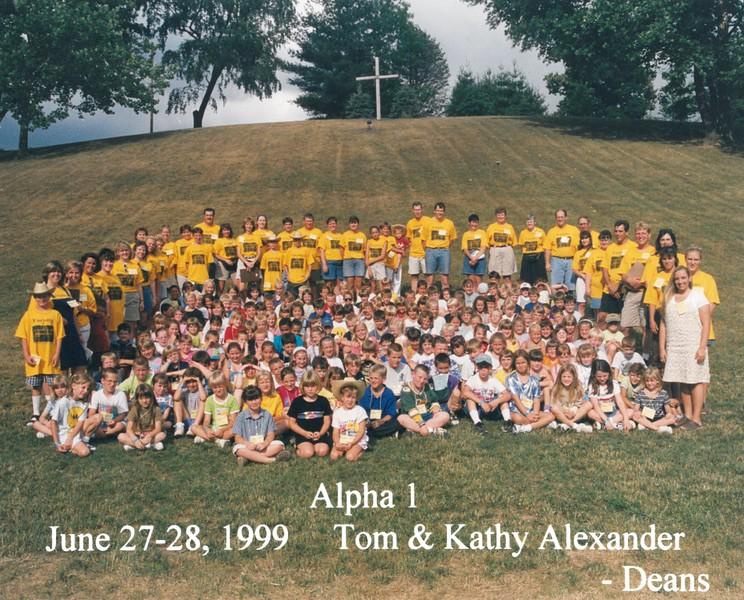 Alpha 1, June 27-28, 1999 Tom & Kathy Alexander, Deans