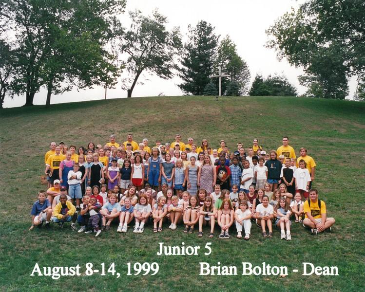 Junior 5, August 8-14, 1999 Brian Bolton, Dean