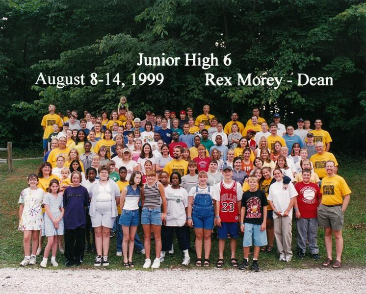 Junior High 6, August 8-14, 1999 Rex Morey, Dean