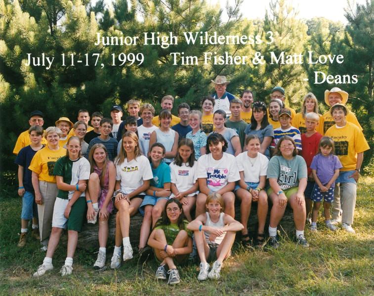 Junior High Wilderness 3, July 11-17, 1999 Tim Fisher & Matt Love, Deans