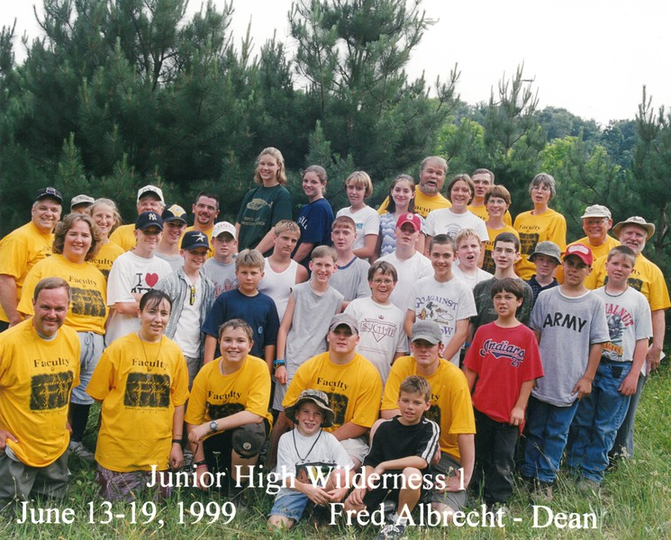 Junior High Wilderness 1, June 13-19, 1999 Fred Albercht, Dean