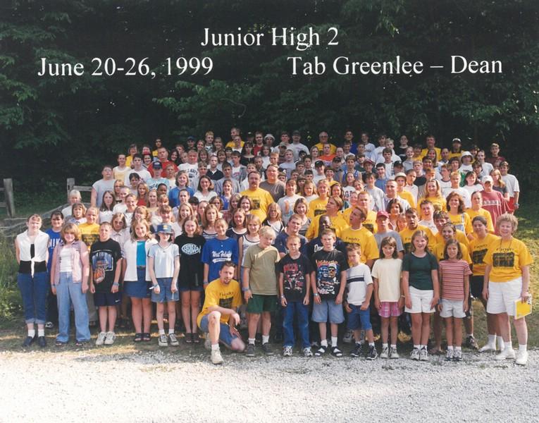 Junior High 2, June 20-26, 1999 Tab Greenlee, Dean