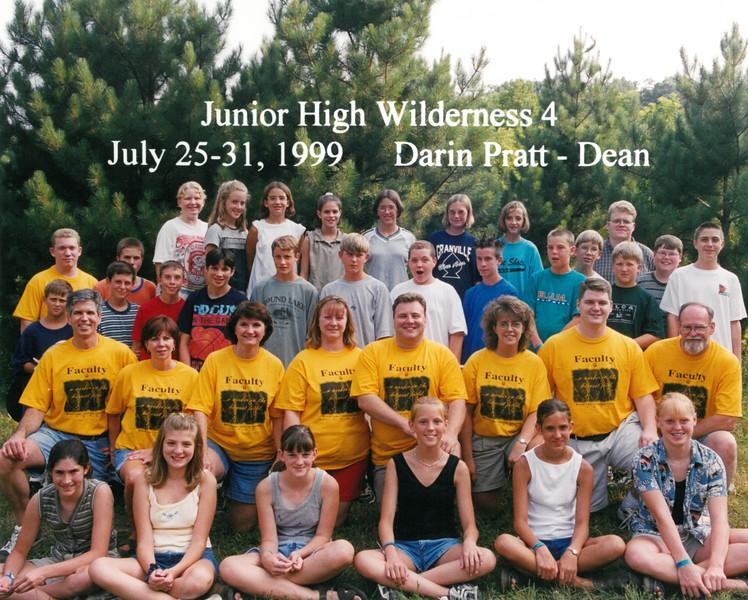 Junior High Wilderness 4, July 25-31, 1999 Darin Pratt, Dean