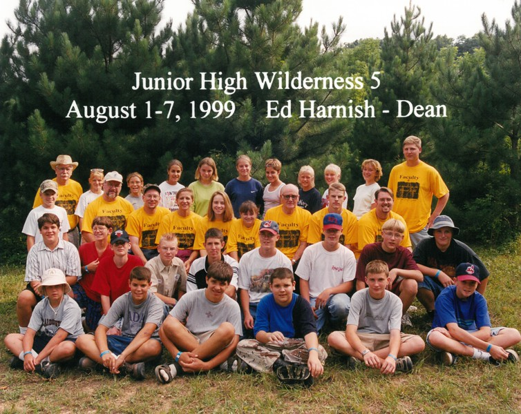 Junior High Wilderness 5, August 1-7, 1999 Ed Harnish, Dean
