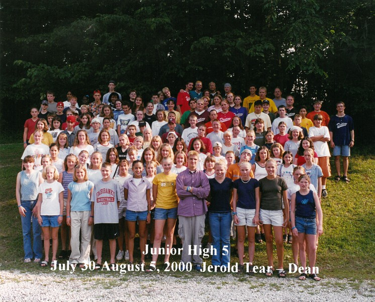 Junior High 5, July 30-August 5, 2000 Jerold Tear, Dean