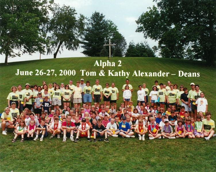 Alpha 2, June 26-27, 2000 Tom & Kathy Alexander, Deans