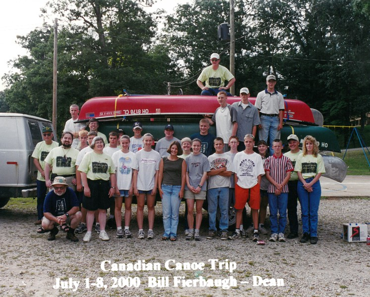 Canadian Canoe Trip, July 1-8, 2000 Bill Fierbaugh, Dean