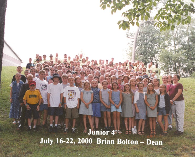 Junior 4, July 16-22, 2000 Brian Bolton, Dean