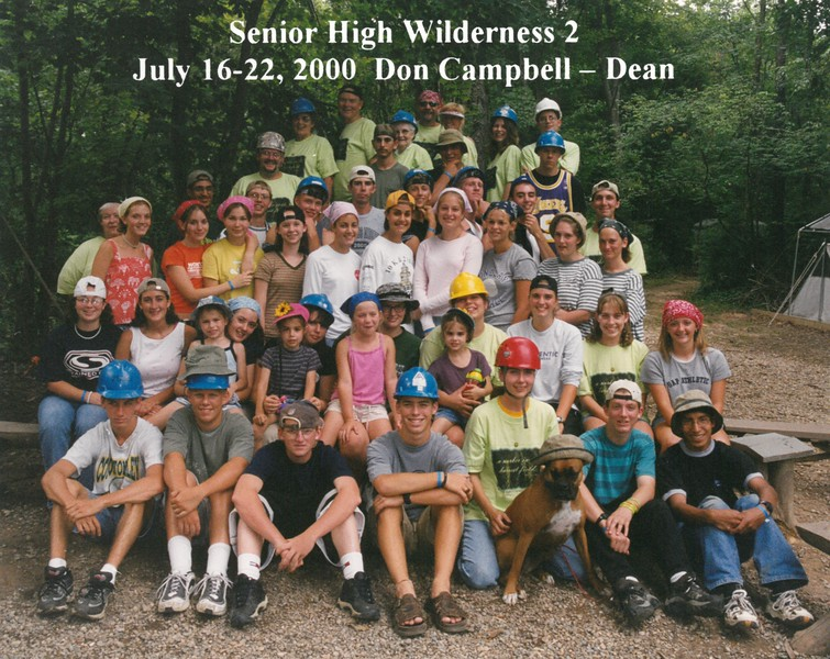 Senior High Wilderness 2, July 16-22, 2000 Don Campbell, Dean