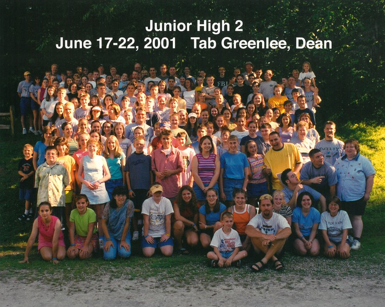Junior High  2, June 17-22, 2001 Tab Greenlee, Dean