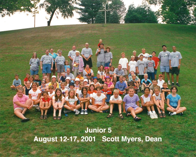 Junior 5, August 12-17, 2001 Scott Myers, Dean
