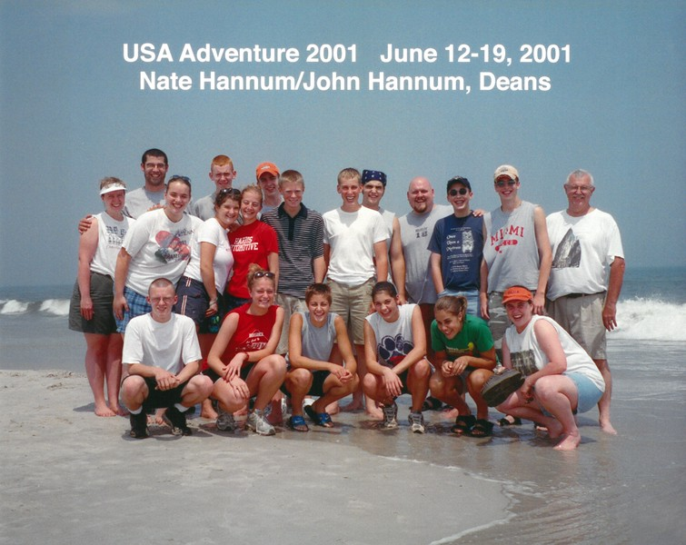 USA Adventure 2001, June 12-19, 2001 Nate Hannum & John Hannum Deans