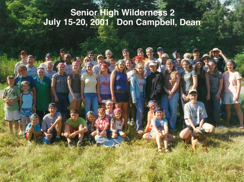 Senior High Wilderness 2, July 15-20, 2001 Don Campbell, Dean