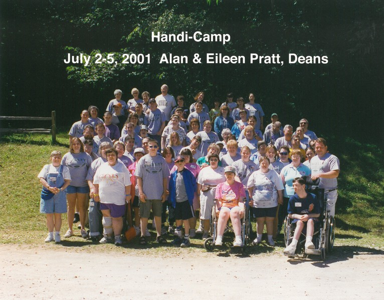 Handi-Camp, July 2-5, 2001 alan & Eileen Pratt, Deans