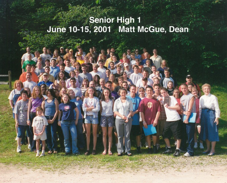 Senior High 1, June 10-15, 2001 Matt McGue, Dean
