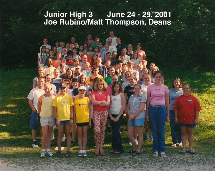 Junior High 3, June 24-29, 2001, Joe Rubino & Matt Thompson, Deans